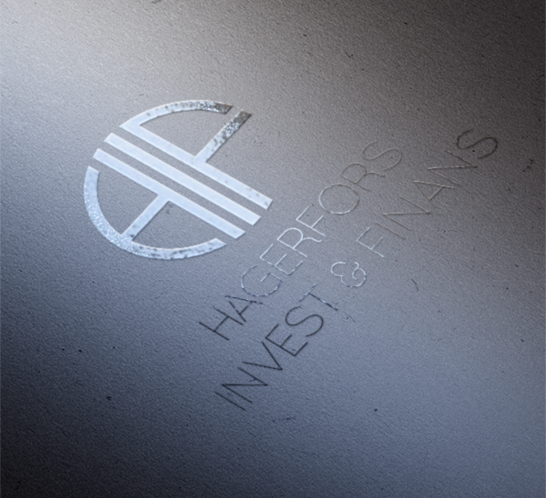 Logotyp Hagerfors Invest & Finans-Wahlbergs-Grafiska